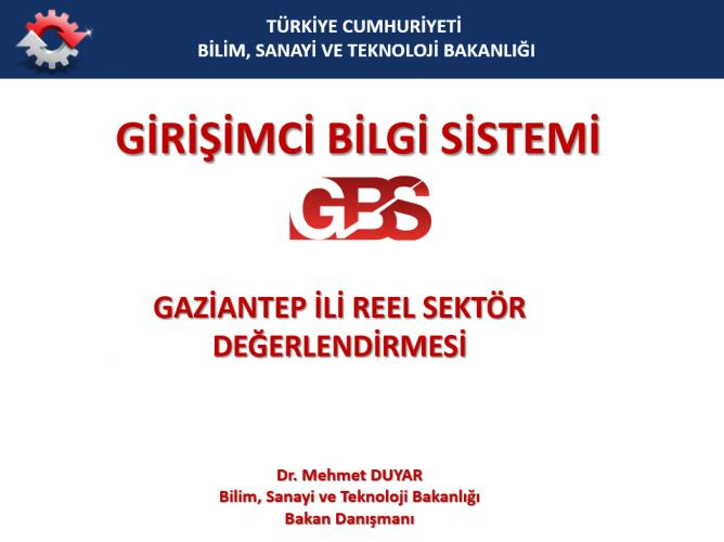 Real Sector Assessment of Gaziantep